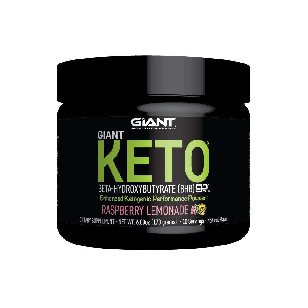 Giant Keto Exogenous Ketone Supplement - Beta-Hydroxybutyrate BHB Powder Formula Designed to Support Your Ketogenic Diet, Raspberry Lemonade - 10 Servings by Giant Sports