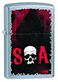 Zippo Pocket Lighter Sons of Anarchy Logo Street Pocket Lighter, Red Chrome