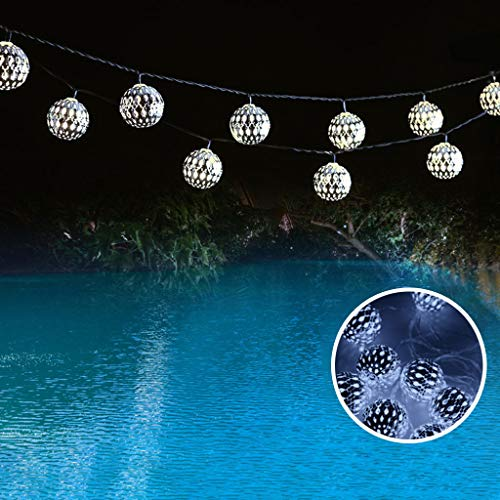 - Excursion Home String Lights - Solar Power Lamp - 10 Ft 10 LED Lights - Waterproof Outdoor & Indoor Decorative Lights for Bedroom, Garden, Patio, Wedding, Parties - Dream Fairy Lights (Silver)