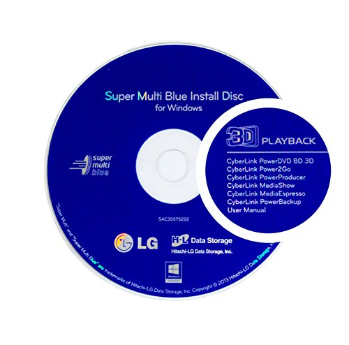 LG WH16NS40 16X M-Disc Blu-ray BDXL CD DVD Internal Burner Drive + 3pk Mdisc BD + Cyberlink Software + Cables & Screws by Produplicator (Image #1)