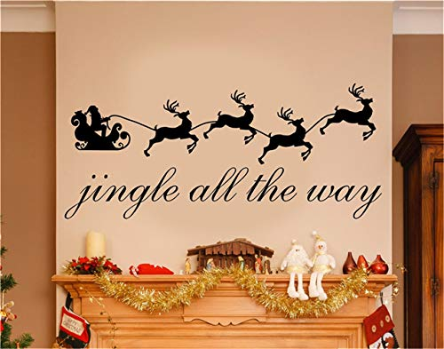 Cheap  Vinyl Removable Wall Stickers Mural Decal Art Family Decals Jingle All The..