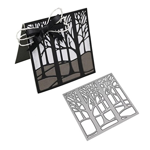 callm Christmas Cutting Dies, Tree Flower Bird Wedding Butterfly Paper Card Making Metal Die Cut Stencil Template for DIY Scrapbook Photo Album Embossing Craft Decoration (A) by callm (Image #1)