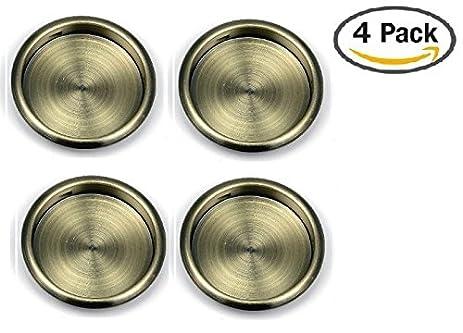 Nuk3y Easy Snap in Closet Door Finger Pull 218 4pack Antique