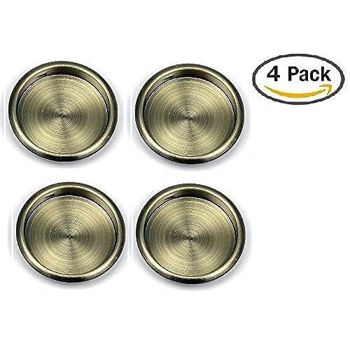 Nuk3y Easy Snap in Closet Door Finger Pull 2-1/8  4-pack (Antique Brass)  sc 1 st  Amazon.com & Antique Door Pulls: Amazon.com