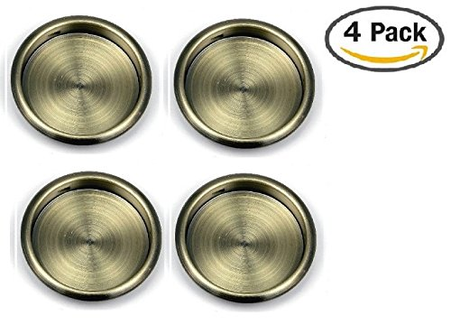 Door Pull Antique - Nuk3y Easy Snap in Closet Door Finger Pull, 2-1/8