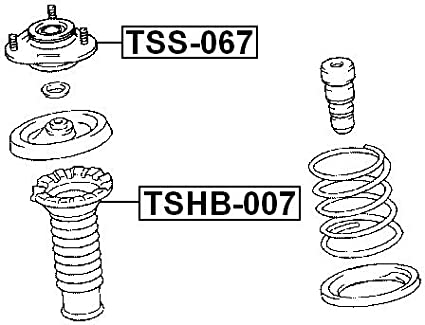 4860920471 Front Shock Absorber Support For Toyota Febest