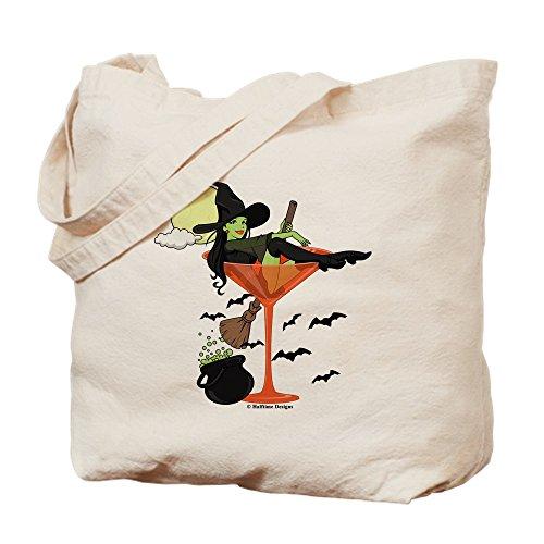 CafePress - Halloween Martini Girl - Natural Canvas Tote Bag, Cloth Shopping -