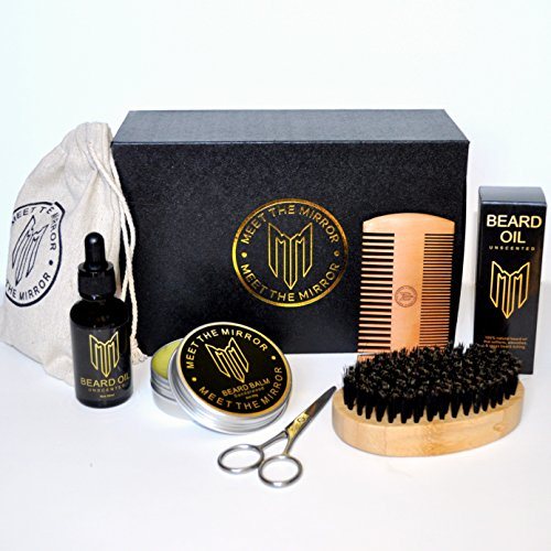 Natural beard grooming kit- beard oil set- beard growth- ultimate luxury beard care- mens gift- beard balm- beard brush- beard comb- scissors- complete mustache and beard care styling products