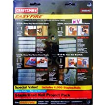 Craftsman Easy Fire 4,000 Staples/Nails Assortment Pack