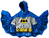 Western Chief Little Boys' Batman Rain Coat, Blue/Black, 5/6