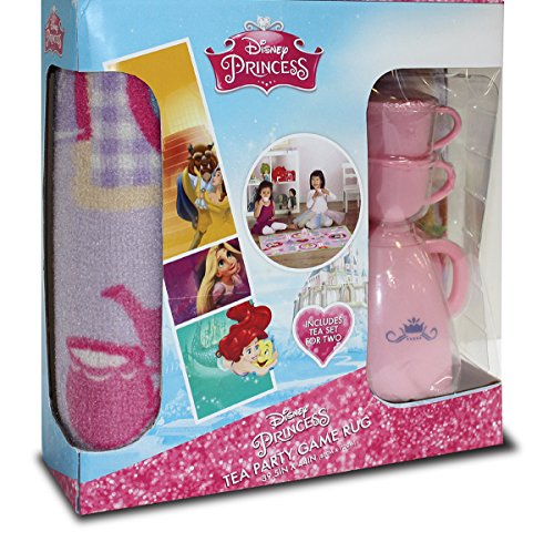 Gertmenian Disney Princess Rug HD Carnival Girls Teacup Play Set One Complete Game, Multi-Color, 32