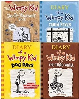 Diary of a wimpy kid 4 book collection dog days third wheel cabin diary of a wimpy kid 4 book collection dog days third wheel cabin fever do it yourself jeff kinney 9780545482936 amazon books solutioingenieria Choice Image