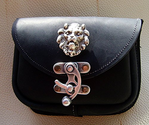 Gürteltasche Löwe Leder Farbe schwarz Leon