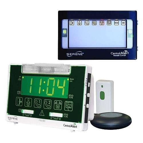 Serene Innovations CentralAlert CA-360 Alarm Clock with Remote Receiver by Serene Innovations