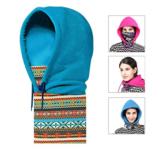 Triwonder Fleece Full Face Cap Hat Neck Warmer Face Mask Balaclava Hat (Long Neck Warmer)