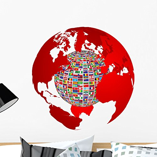 Wallmonkeys Transparency World Map with Wall Decal Peel and Stick Vinyl Graphic (24 in H x 24 in W) WM349006
