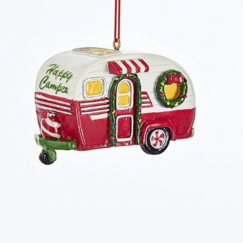 Kurt Adler Happy Camper RV Christmas Ornament (Christmas Ornament Vintage Camper)