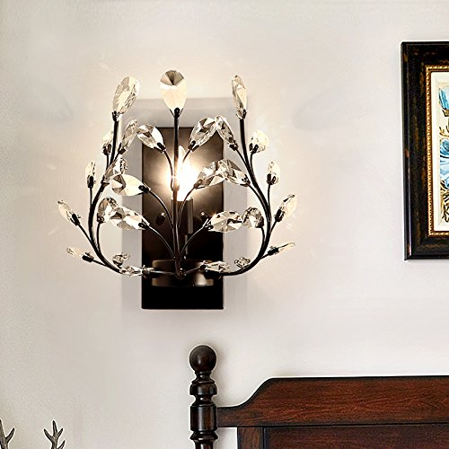 Cheap Leihongthebox Wall Sconce style reminiscent of the Wall Sconce Lamps Retro crystal chandeliers, Wall Sconce lights 31w33cm (Oil Rubbed Bronze)
