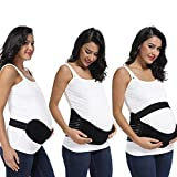 CROSS1946 Soft Loving Comfort Maternity Belt Band Back Support, Abdomen Band, Back Brace-Black XXL