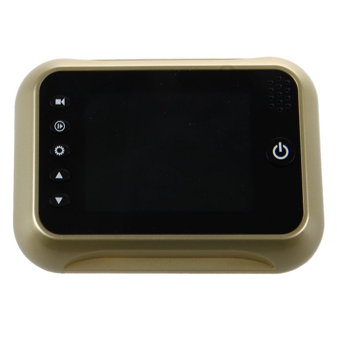 SODIAL(R) Mirilla Digital VideoPortero pantalla 3.5 de LCD a Color Champagne IR Vision nocturan Sistema de seguridad: Amazon.es: Bricolaje y herramientas