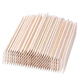 100 Pcs Nail Cuticle Pusher Nail Art Orange Wood Stick Sticks Cuticle Pusher Remover Manicure