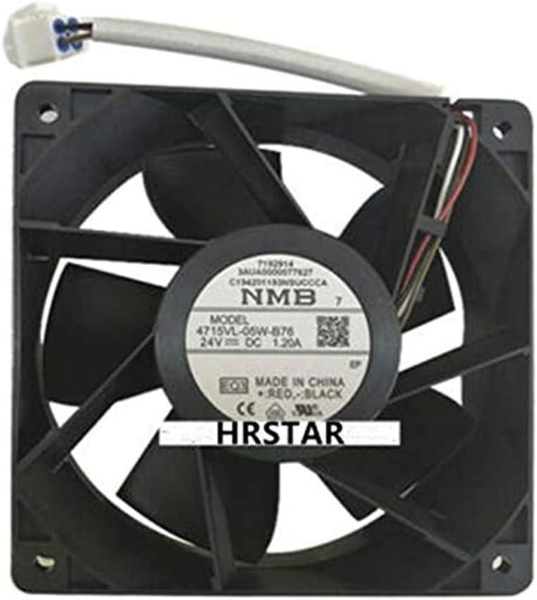 Original New NMB 4715VL-05W-B76 DC 24V 1.20A 120X120X38mm Inverter Cooling Fan ACS580//880