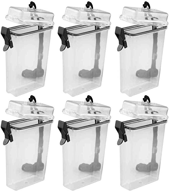 2pcs Waterproof Box Case Holder Plastic Container Phone Money Key Storage