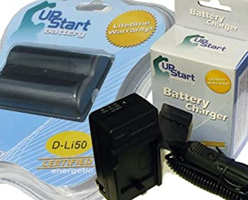 Amazon.com: Kit de Cargador para Pentax D-LI50 Batería y AC ...