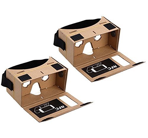 Blingkingdom - (2pcs in Pack) Google Cardboard Headset 3D Virtual Reality VR Goggles for Android Smart Phones iPhone + NFC and Head-strap by BlingKingdom (Image #4)