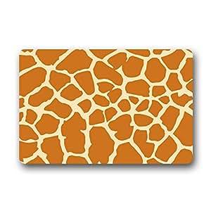 """Perfectamente diseñado Felpudo 15.7""""x 23.6"""" con marrón jirafa background-by mi estrella mercado"""