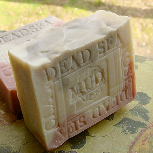 Lavender Soap Aged Bar with Rose Clay and Dead Sea Mud from Israel – Shea Butter and Lavender Butter Handmade. Handcrafted Natural French Soap