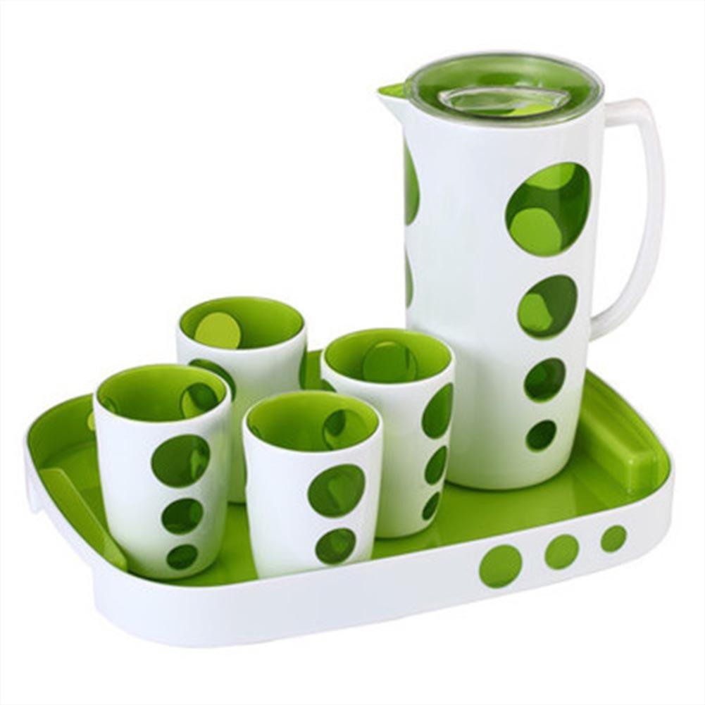 Xiaolimou Kaltwasserkocher hitzeBesteändige Tasse sechsteilig Haushalt Grün