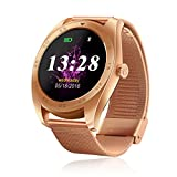 RG Man Round Screen Watch Sporting Fitness Tracker Smart Watch Compatiable With Both IOS & Android Changeable Strap Heart Rate Monitor