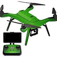 MightySkins Protective Vinyl Skin Decal for 3DR Solo Drone Quadcopter wrap cover sticker skins Lime Carbon Fiber