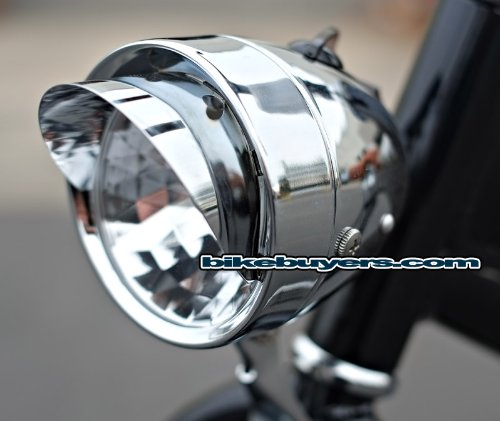Classic Bicycle Bullet Headlight 3 LEDs Light Bulbs Cruiser Lowrider Bikes