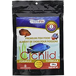 NorthFin Cichlid Pellets Formula 1 mm Sinking - 250 g - Cichlid Fish Food - African Cichlids Food - Premium Tropical Fish Food - Cichlid Food pellets