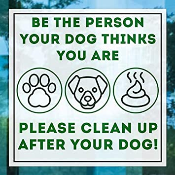 Be The Person 5-Pack 24x24 CGSignLab Square Clear Window Cling