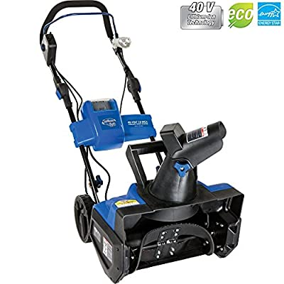Snow Joe Ion Cordless Single Stage Snow Blower W/Rechargeable Battery iON18SB - (Certified Refurbished)