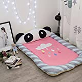 Personalized fashion pillow mat safety four-Dimensional protection cartoon thickened?Multi-Purpose mattress mats modern area rugs-A 145x90cm(57x35inch)