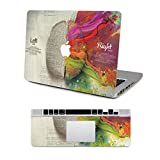 """Vati Leaves Removable Left and Right Brain Protective Full Cover Vinyl Art Skin Decal Sticker Cover for Apple MacBook Air 13.3"""" inch (A1369/A1466)"""