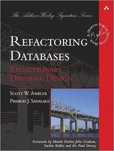 Refactoring Databases: Evolutionary Database Design (paperback) (Addison-Wesley Signature Series (Fowler))