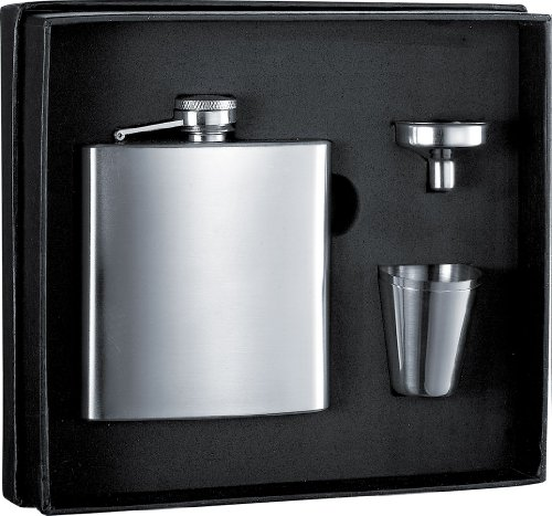 Visol 6 oz Stainless Steel Flask and Funnel Gift Set