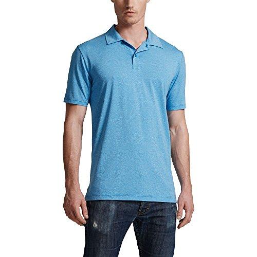 32Degrees Weatherproof Mens' Moisture Wicking Polo, Anti Static, Anti-Odor, Ocean Blue, Large