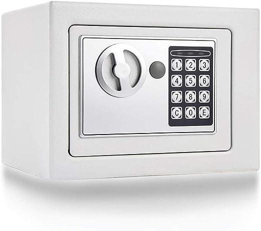 Y-BXX Caja Fuerte pequeña ignifuga, Cerradura de combinación de electrónica Digital, Caja Fuerte para Pared, Caja Fuerte para Joyas, documento en Efectivo, 23 x 17 x 17 cm, Blanco: Amazon.es: Hogar