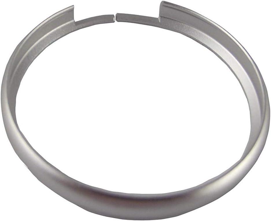 Silver WKBY Fashion Aluminum Alloy Key Fob Ring Rim Trim Chain Compatible With Mini Cooper E60 E39 E36 E30 X5 R56 Decorative Circle Black