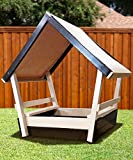 NEW CONGO Kid's Chalet Sandbox With Roof - Low Maintenance