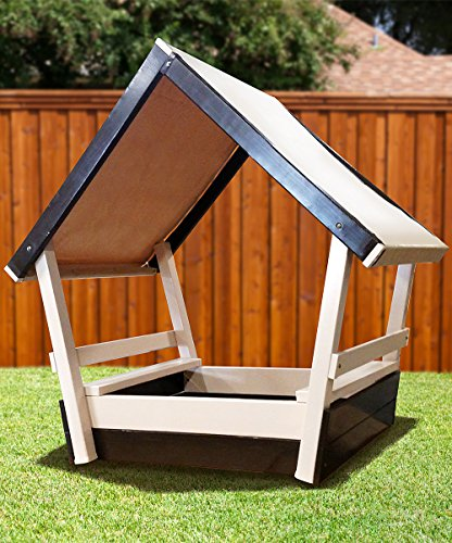 NEW CONGO Kid's Chalet Sandbox With Roof - Low Maintenance (Chalet Roof)