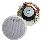 White 2-Way 6'' inch 120 Watts 120W 6 Ohms In-Ceiling Home Theater Speaker (pair)