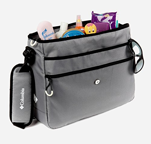 columbia global adventure messenger diaper bag gray 11street malaysia diaper bag. Black Bedroom Furniture Sets. Home Design Ideas