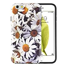 iPhone 6 Case, iPhone 6S Case, Dimaka Full Body Protective Pattern Case with Cute Feminine Vintage Floral Daisy Desgin, Double Layer High Impact and Shiny Texture for 4.7 inch iPhone 6/6S